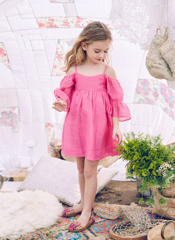 Nellystella Sasha Dress in Strawberry