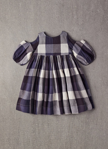 Nellystella Vanessa Dress in Large Blue Plaid