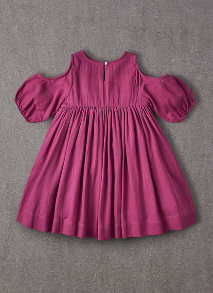 Nellystella Vanessa Dress in Plum - FINAL SALE