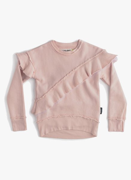 Nununu Asymmetrical Ruffle Sweatshirt - FINAL SALE