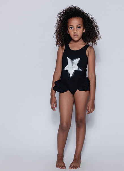 Nununu Falling Star Ruffled Swimsuit