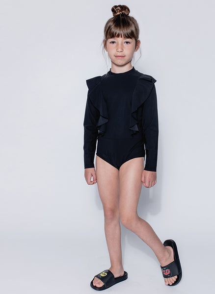 Nununu Ruffled Long Sleeved Swimsuit - PRE-ORDER