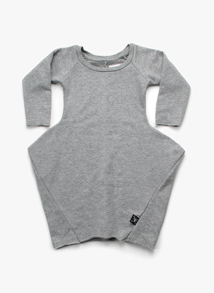 Nununu Abstract Dress in Heather Grey