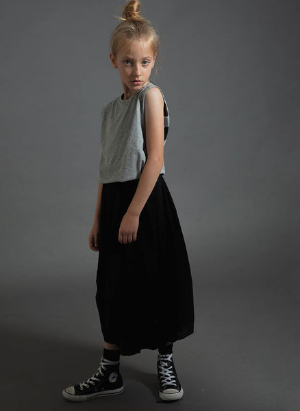 Nununu Feather Skirt in Black - FINAL SALE
