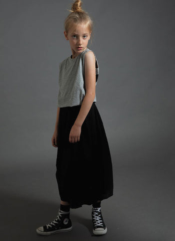 Nununu Feather Skirt in Black