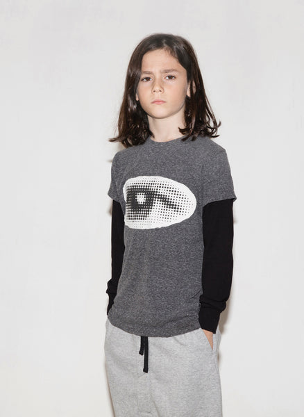 Nununu Eye Patch T Shirt in Charcoal - FINAL SALE