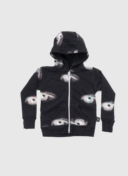 Nununu Eye Zip Hoodie in Black - FINAL SALE