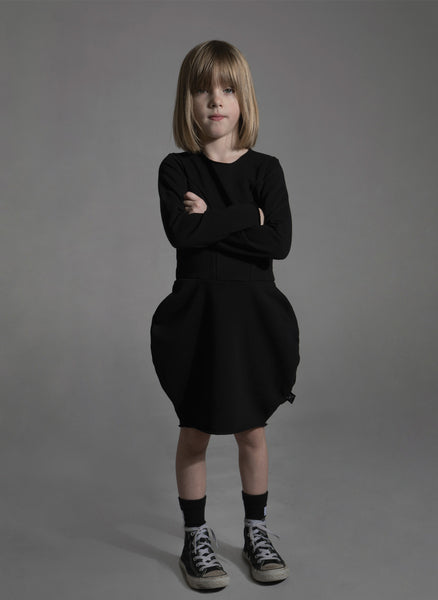 Nununu Balloon Dress in Black - FINAL SALE