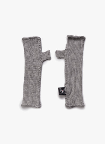 Nununu Knitted Gloves in Heather Grey - FINAL SALE