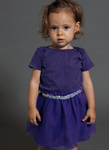 Nununu Onesie Tulle Skirt in Deep Purple
