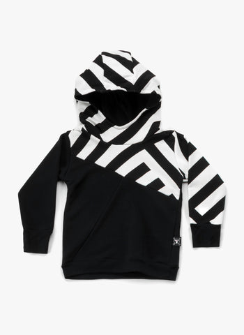 Nununu Part Striped Hoodie  - FINAL SALE