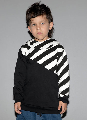 Nununu Part Striped Hoodie