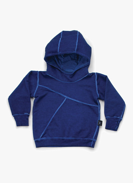 Nununu Puffy Numbered Hoodie in Dirty Blue - FINAL SALE