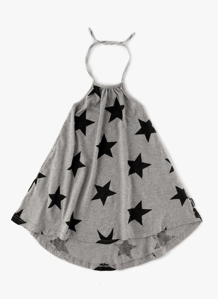 Nununu Star Collar Dress in Heather Grey - FINAL SALE