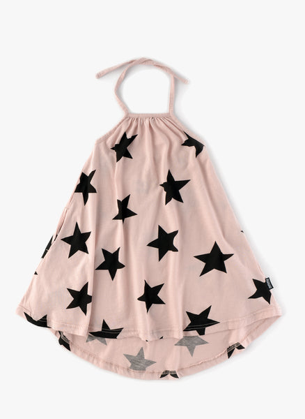 Nununu Star Collar Dress in Powder Pink - FINAL SALE