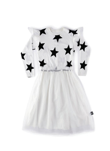 Nununu Star Tulle Dress in White