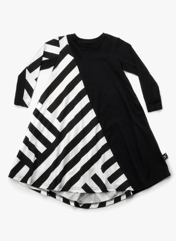 Nununu Striped 360 Dress in Black