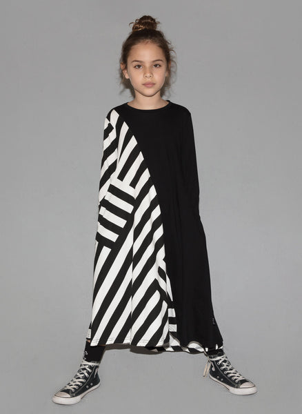 Nununu Striped 360 Dress in Black - FINAL SALE