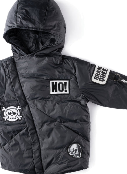Nununu Super Patch Down Jacket in Black - FINAL SALE