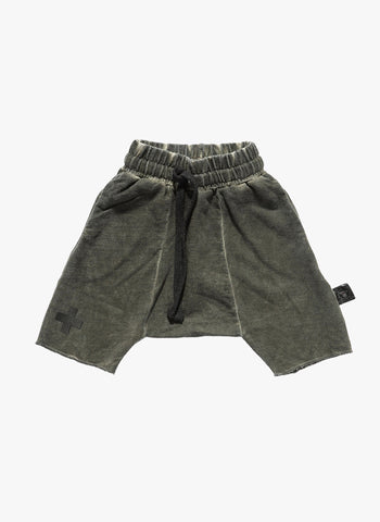 Nununu Terry Shorts in Olive - FINAL SALE