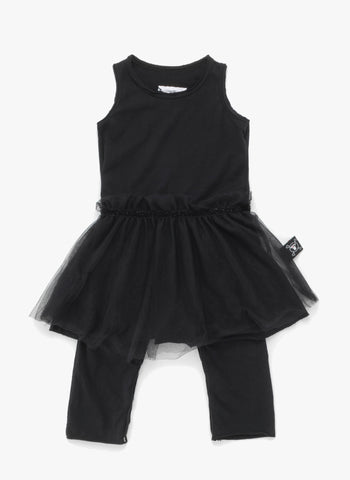 Nununu Tulle Overall Skirt in Black