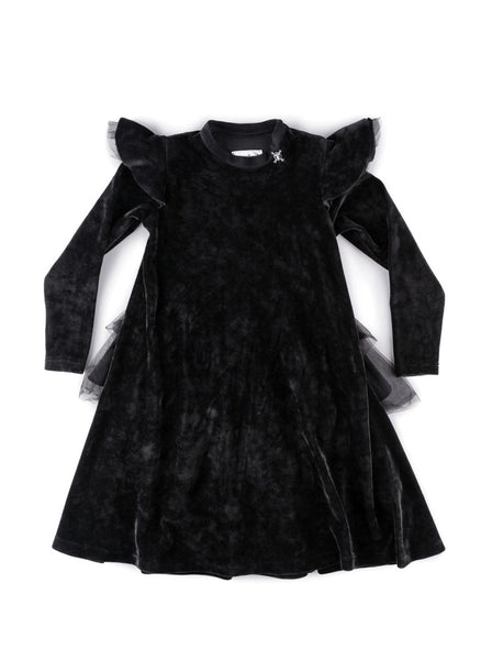 Nununu Velvet Party Dress in Black - FINAL SALE