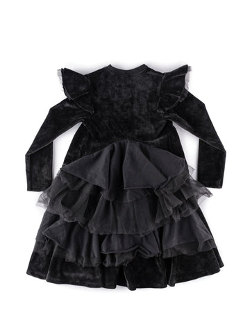 Nununu Velvet Party Dress in Black