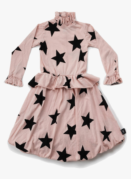 Nununu Victorian Star Balloon Dress in Powder Pink