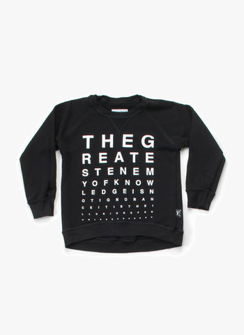 Nununu Vision Test Sweatshirt in Black - FINAL SALE