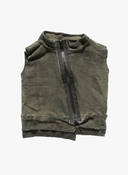 Nununu Deconstructed Vest in Olive - FINAL SALE
