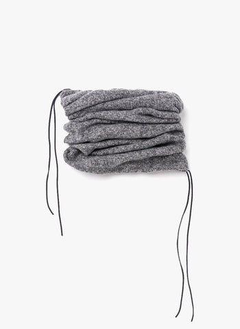 Omami Mini Brushed knit tunnel scarf in Grey - FINAL SALE