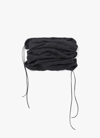 Omami Mini Brushed knit tunnel scarf in Black - FINAL SALE