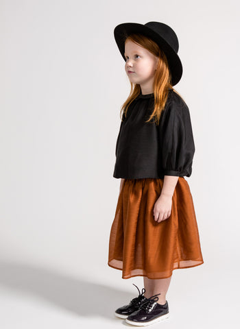 Omami Mini Layered Voile Skirt in Rust - FINAL SALE