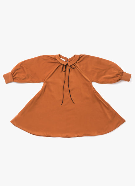 Omami Mini Tent Dress with Piter Pan Collar