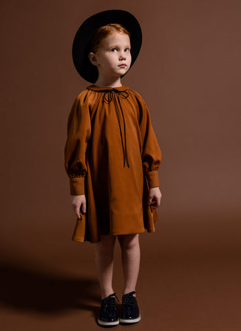 Omami Mini Tent Dress with Piter Pan Collar - FINAL SALE