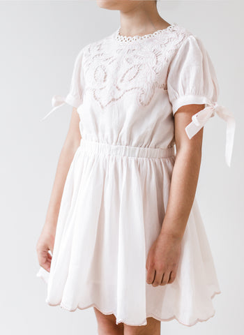 Petite Amalie Flower Cut Out Dress in Delicate