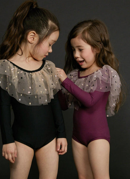 Petite Hailey Dot Alexa Leotard in Purple