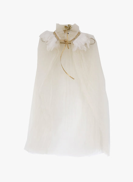 Petite Hailey Dream Feather Cape - Ivory - FINAL SALE