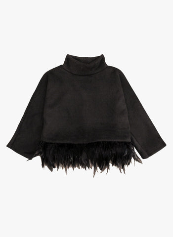 Petite Hailey Kate Feather Top