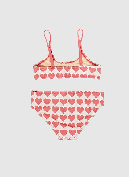 Pink Chicken Poppy Bikini Bathing Suits in Rapture Rose Hearts