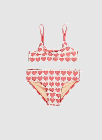 Pink Chicken Rapture Bikini Bathing Suits in Rose Hearts