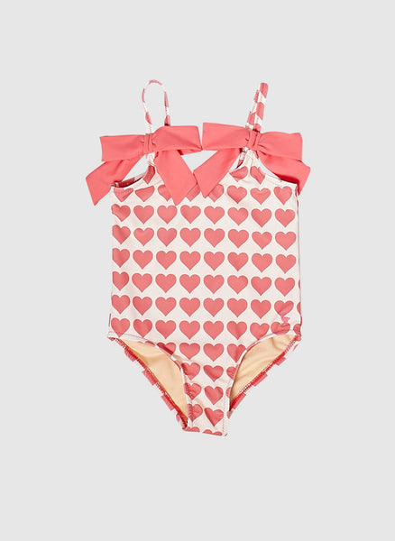 Pink Chicken Rapture Swim Bathing Suits in Rose Hearts