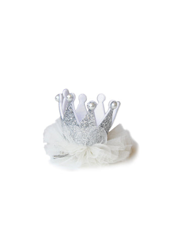 Hello Alyss Princess Crown Hair clip - Silver - Hello Alyss Exclusive - Back in stock