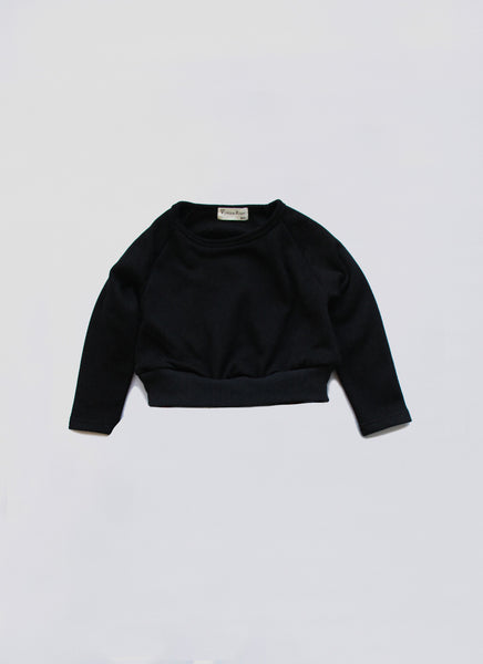 Vierra Rose Riley Solid Sweatshirt in Black - FINAL SALE