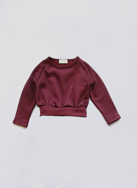 Vierra Rose Riley Solid Sweatshirt in Rust - FINAL SALE