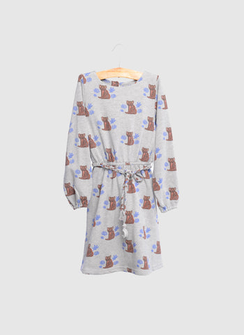 SIAOMIMI Nyla Dress in Grey Tiger