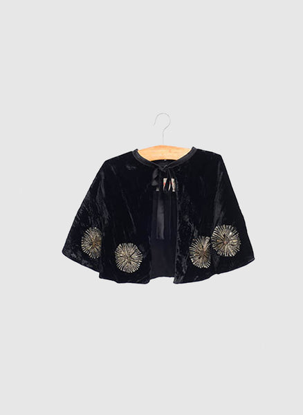 SIAOMIMI PLAY Velvet Cape in Black - FINAL SALE