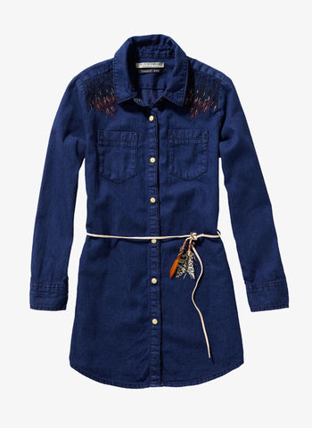 Scotch R'Belle Denim Dress with Embroideries - 1456-06.88492 - FINAL SALE