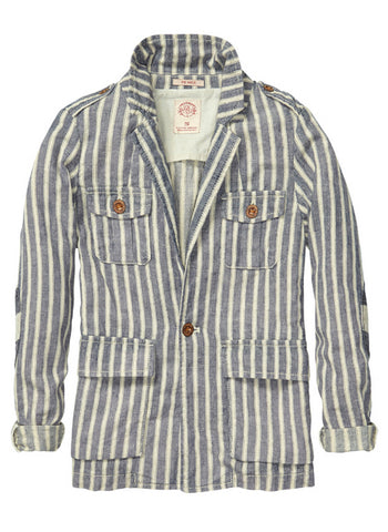 Scotch Shrunk Boys Beachy Worked Out Blazer with Pockets - 1441-02.30501 - FINAL SALE