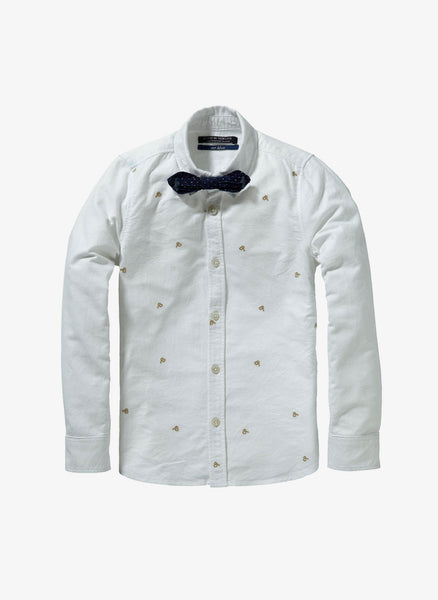Scotch Shrunk Dress Shirt with Bowtie - 1446-06.20591 - White - FINAL SALE